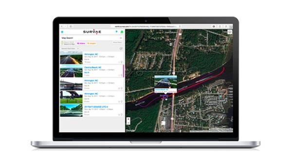 Screenshot de l'application Survae
