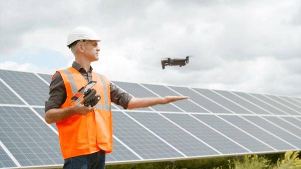 Anafi usa solar panel inspection