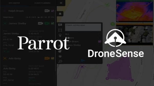 Parrot x DroneSense